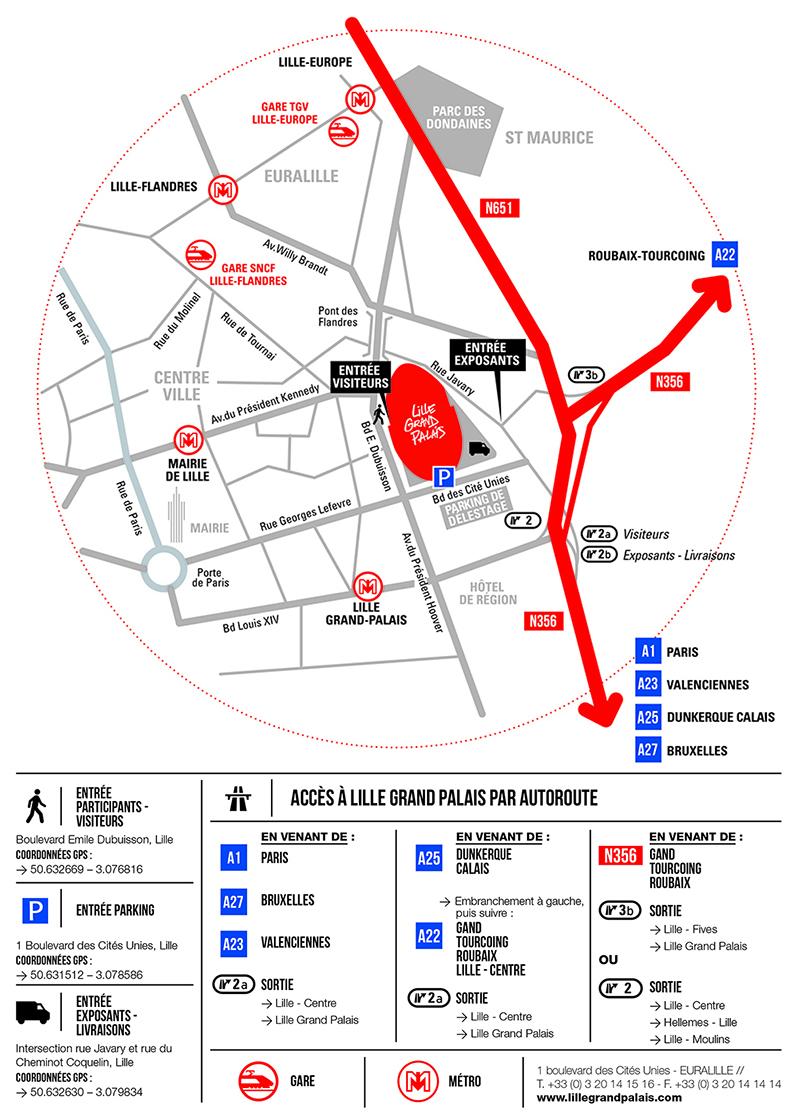 Acces Lille Grand Palais